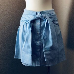 NEW Blue/White Oxford Pinstripe Shirt Skirt